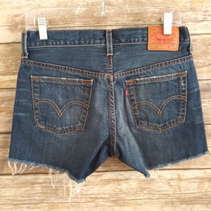 Levi's 501 Cut-Off Button Fly Denim Shorts 28